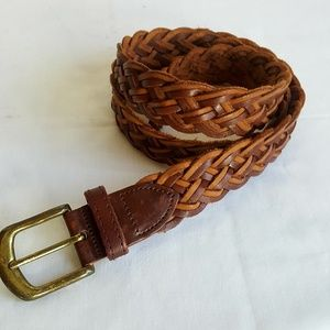 "Full grain cowhide Argentina braided belt 36"""